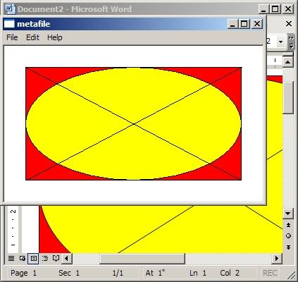 C++ clipboard copy with metafile demo sample program preview